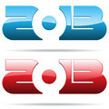 Metallic 2013 year number Royalty Free Stock Photo