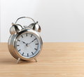 Metallic alarm clock Royalty Free Stock Images