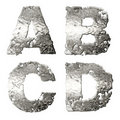 Metallic alphabet. Stock Images