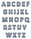 Metallic alphabet. Royalty Free Stock Photos