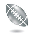 Metallic american football line art isolated on white Royalty Free Stock Photography