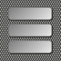 Metallic banners three on dark background Royalty Free Stock Image
