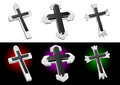 Metallic Christian Cross Vector Royalty Free Stock Photos