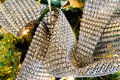 Metallic Christmas decorative ribbon Royalty Free Stock Photo