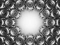 Metallic Cogwheel Gears Industrial Background