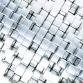 Metallic cubes as background Royalty Free Stock Photography