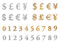 Metallic currencies Royalty Free Stock Photo