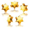 Metallic 3d golden star of David Royalty Free Stock Photo