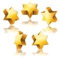 Metallic 3d golden star of David Royalty Free Stock Photo