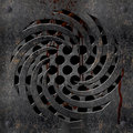 Metallic drain with blood Royalty Free Stock Photos