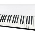 Metallic electronic piano keyboard Royalty Free Stock Photo