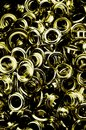 Metallic eyelets Royalty Free Stock Photo