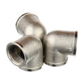 Metallic fitting three fittings isolated over white background Stock Image