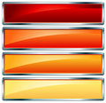 Metallic frame hot Royalty Free Stock Photos