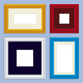 Metallic frames (vector) Royalty Free Stock Photos