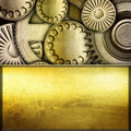 Metallic gears background Stock Photography