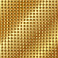 Metallic gold background with screws Royalty Free Stock Photo