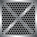 Metallic grid Royalty Free Stock Image