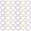 Metallic Heart Abstract Background Stock Photo