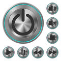 Metallic Icons Media Player Royalty Free Stock Photo