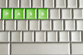 Metallic keyboard with the word pass conceptual isolated on a Stock Photography