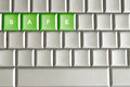 Metallic keyboard with the word safe conceptual isolated on a Stock Image