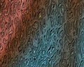 Metallic Melting Cell Texture Red Blue Stock Photos