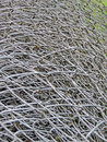Metallic meshes texture of various overlapped Stock Image