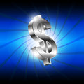 Metallic money icon Royalty Free Stock Images