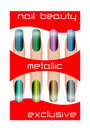 Metallic nail polish Stock Images