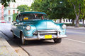 Metallic oldtimer car in the streets of Havana Royalty Free Stock Images