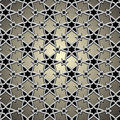 Metallic pattern on islamic motif Royalty Free Stock Images