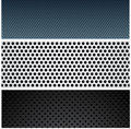 Metallic pattern set. Stock Photography