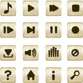 Metallic player icons Royalty Free Stock Photo