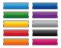 Metallic rectangular buttons Royalty Free Stock Photo