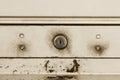 Metallic roller shutter door background Royalty Free Stock Photo