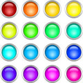 Metallic Round Buttons Stock Image