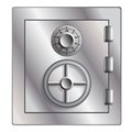 Metallic safe for storage of valuables vector illustration Stock Photos