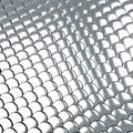 Metallic silver scales background d shiny made of many Royalty Free Stock Image