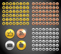 Metallic social media icons collection Stock Image