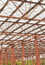 Metallic structure ceiling Royalty Free Stock Photo