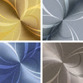 Metallic texture set of backgrounds with drawn in different colors Royalty Free Stock Images