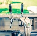 Metallic water dispenser Royalty Free Stock Photo