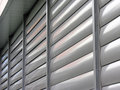 Metallic  window shutter at the  office building Royalty Free Stock Photo
