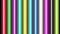 Metallic wrapping paper row of colorful Royalty Free Stock Photos