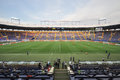 Metallist stadium before the match between shakhtar donetsk city ukraine vs chernomorets odessa city ukraine may kharkov Royalty Free Stock Photo