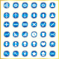 Metallized icons on a white background Stock Photo