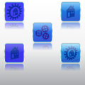Metallized icons on a white background Royalty Free Stock Photos
