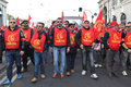 Metalworkers' general strike in Italy Royalty Free Stock Photography
