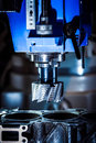 Metalworking cnc milling machine cutting metal modern processing technology Stock Images